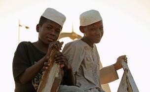 ילדים בנג'מנה, בירת צ'אד (צילום: רויטרס, חדשות)