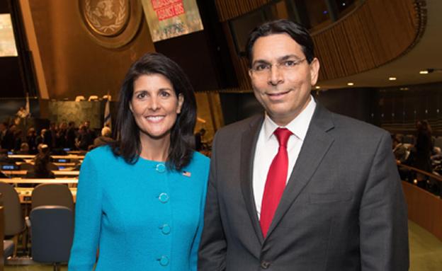 השגרירים דנון והיילי, ארכיון (צילום: שחר עזרן, חדשות)