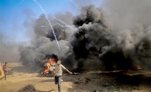 עשרות אלפי פלסטינים מפגינים מדי שבוע (צילום: חדשות)