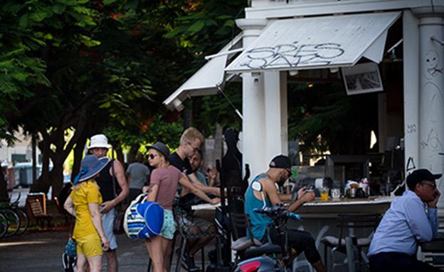 בית קפה בתל אביב (צילום: מירים אלסטר, פלאש 90, חדשות)
