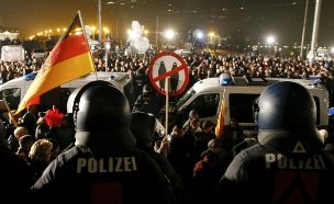 הפגנת ימין קיצוני בגרמניה (צילום: רויטרס, חדשות)