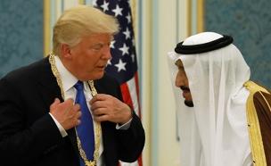 טראמפ ומלך ערב הסעודית (צילום: רויטרס, חדשות)