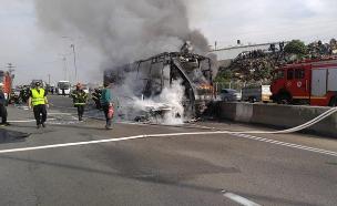 התאונה בכביש 5 (צילום: רפי אביטל/TPS, חדשות)