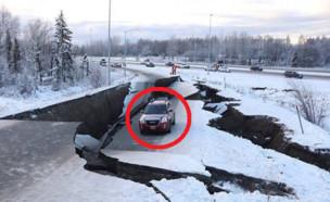 רעידת אדמה באלסקה (צילום: אינסטגרם\akdogdriver)