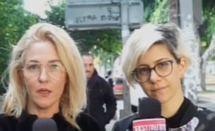 """מיה דגן ודפנה לוסטיג משביתת הנשים (צילום: מתוך """"חדשות הבוקר"""" , קשת 12)"""