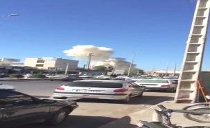 זירת הפיצוץ, היום (צילום: fars, חדשות)