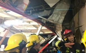 פועל נהרג בשל פגעי מזג האוויר (צילום: דוברות כבאות, חדשות)