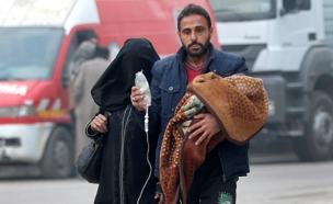 עשרות הרוגים ופצועים, חאלב (צילום: רויטרס, חדשות)