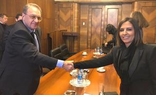 השרה גמליאל בביקורה ברוסיה. שבוע שעבר (צילום: פרספשן מדייה, חדשות)