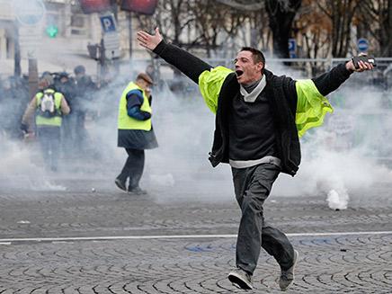הפגנה בפריז נגד הממשלה