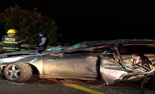 התאונה הקטלנית בכביש 6 (צילום: דוברות המשטרה, חדשות)