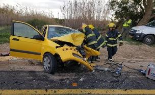 תאונת דרכים (צילום: כבאות והצלה נגב, חדשות)