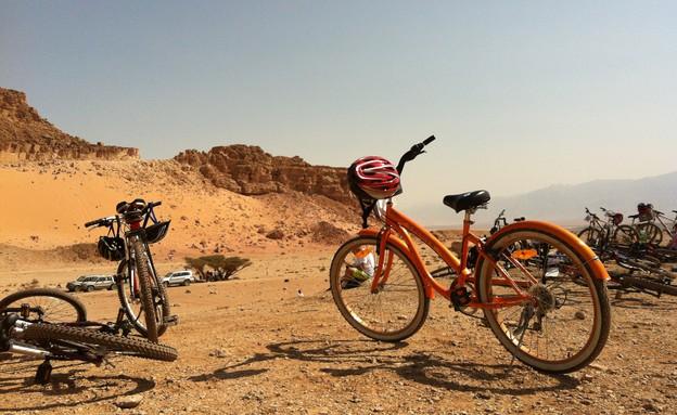 אופניים בערבה  (צילום: נמרוד כהן)