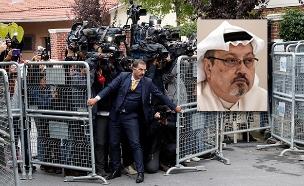 חאשוקג'י וזירת הרצח בשגרירות סעודיה באיסטנבול (צילום: cnn, רויטרס, חדשות)