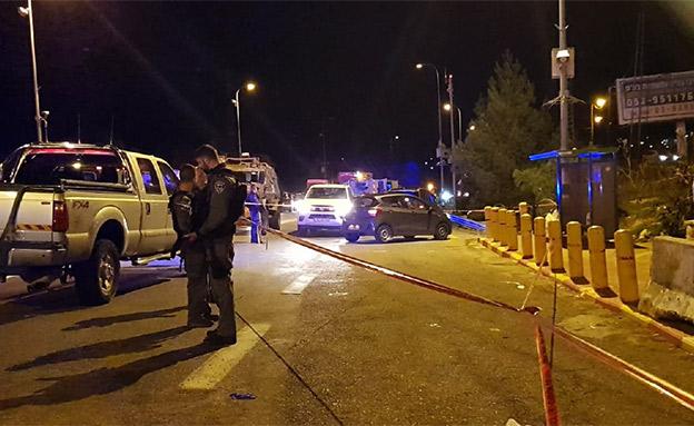 זירת פיגוע הירי בעפרה, אמש (צילום: ענבל ראובני / TPS)