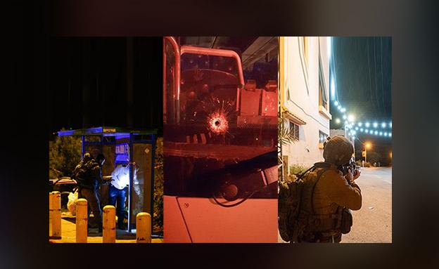 """מצוד אחר מבצעי הפיגועים בברקן, עפרה ובית אל (צילום: עופר מאיר, פלאש 90, דובר צה""""ל, החדשות)"""
