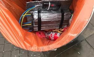 חפץ חשוד בפח (צילום: פייסבוק)