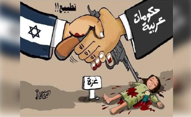 קריקטורה נגד נרמול היחסים (צילום: חדשות)