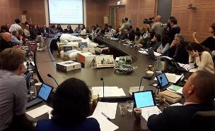המוצרים שהוצגו בדיון (צילום: יצחק הררי , דוברות הכנסת, חדשות)