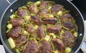 קציצות בקר עם שעועית ירוקה ותפוחי אדמה (צילום: יונית סולטן צוקרמן, אוכל טוב)
