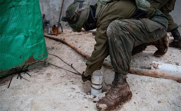 """חשיפת מנהרה שלישית של חיזבאללה בצפון (צילום: דובר צה""""ל, חדשות)"""