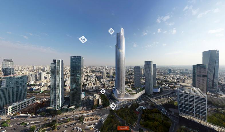 מגדל הספירלה של קבוצת עזריאלי (הדמיה: יחסי ציבור)