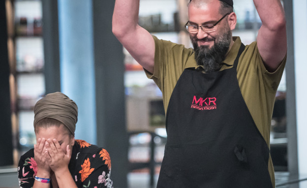 המטבח המנצח - אסתר ויהונתן מנצחים (צילום: MKR המטבח המנצח, קשת 12)