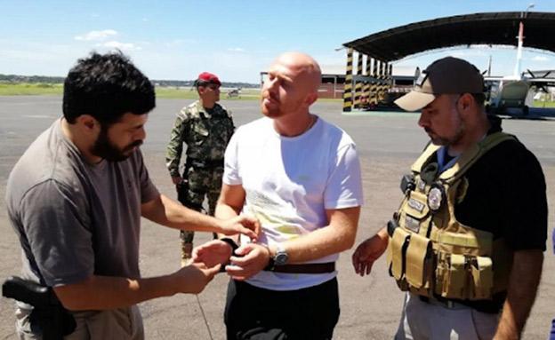 טרייגר לאחר מעצרו השני (צילום: משטרת פרגוואי, חדשות)