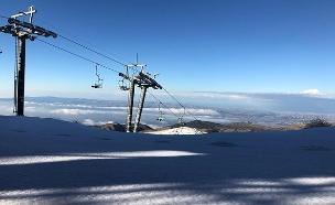שלג בחרמון, שבוע שעבר (צילום: אתר החרמון, חדשות)