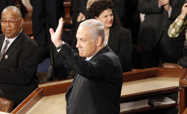 """ה""""שואו"""" יחזור? נתניהו בקונגרס, 2015 (צילום: רויטרס, חדשות)"""