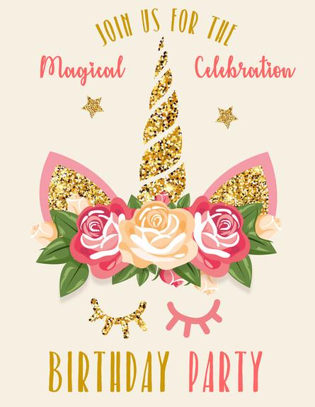 הזמנה ליום הולדת חד קרן (צילום: By Elena Baryshkina, shuttetstock)