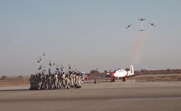 כומתות באוויר וכנפי טיסה. מסדר הסיום (צילום: דובר צהל, חדשות)
