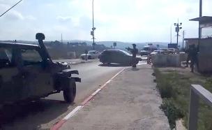 """ניסיון פיגוע דריסה בכיכר חטמ""""ר (צילום: חדשות)"""