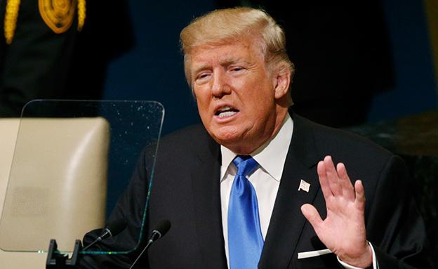 דונאלד טראמפ נואם בעצרת האום (צילום: רויטרס, חדשות)