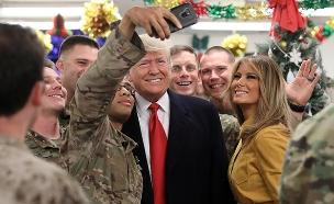 """נשיא ארה""""ב בביקור כוחות ארה""""ב בעירק (צילום: רויטרס, חדשות)"""