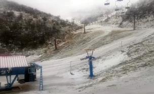 שלג בחרמון (צילום: אתר החרמון, חדשות)