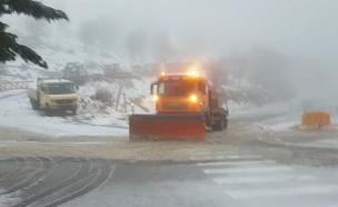 שלג בחרמון, היום (צילום: אתר החרמון, חדשות)