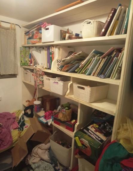 הבית של כרמל, ג, חדר ילדים לפני (צילום: שירי דולב)