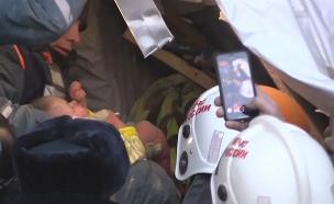 צפו ברגעי החילוץ (צילום: רויטרס / MCHS, חדשות)