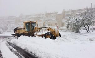 שלג בשכונת גילה בירושלים (צילום: ינון בן שושן, NEXTER)