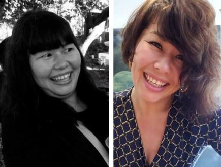 קים דאי, לפני ואחרי (צילום: instagram)