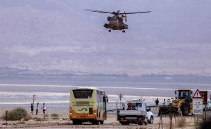 ניסיון החילוץ בנחל צפית בזמן האסון (צילום: מאור קינסבורסקי / פלאש 90, חדשות)