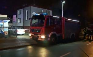 מוקד השרפה בפולין, לפנות בוקר (צילום: רויטרס, חדשות)