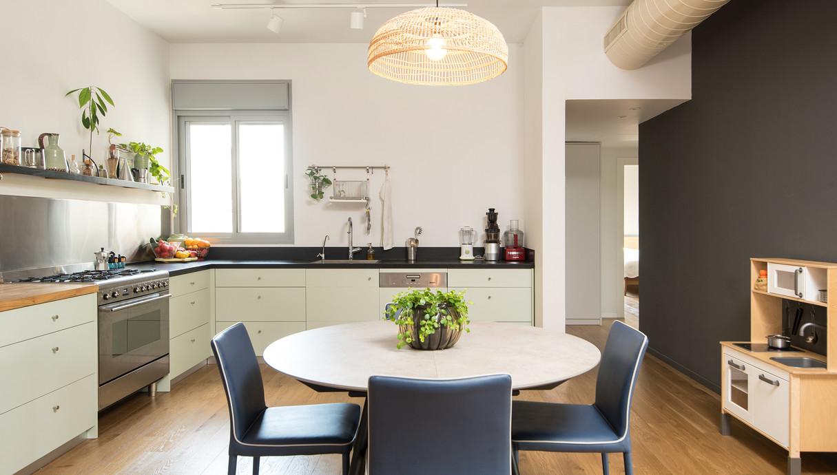 דירה בקריית שלם, עיצוב יוליה סטרוסלסקי, מטבח