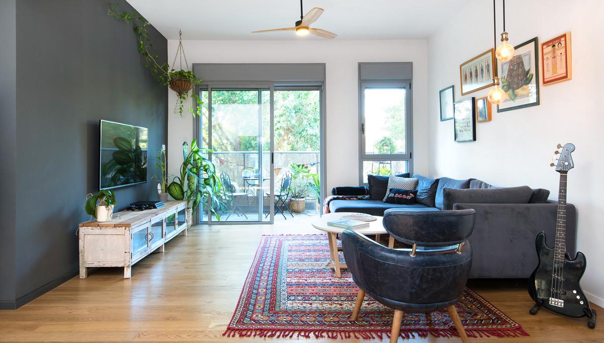 דירה בקריית שלם, עיצוב יוליה סטרוסלסקי, סלון