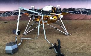 הדמיית נחיתה במאדים (צילום: NASA, חדשות)