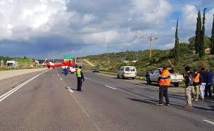 """זירת התאונה (צילום: דוברות מד""""א, חדשות)"""
