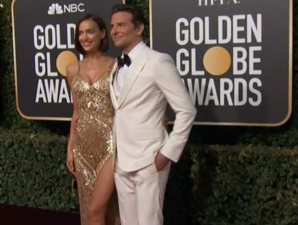 ברדלי קופר ואירנה שייק בטקס גלובוס הזהב
