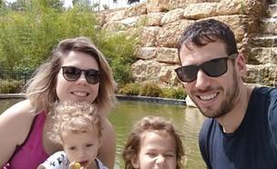 אנה צוויבאן עם בעלה ליאור ובנותיהם (צילום: אלבום פרטי)