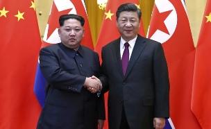 קים ונשיא סין, ארכיון (צילום: AP, חדשות)